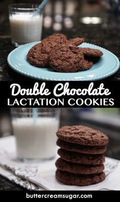 These homemade Double Chocolate Lactation Cookies are crazy delicious! Not just … These homemade Double Chocolate Lactation Cookies are crazy delicious! Not just for nursing mothers – anyone who LOVES chocolate will LOVE these cookies! Baby Food Recipes, Cookie Recipes, Breastfeeding Foods, Lactation Recipes, Lactation Foods, Healthy Lactation Cookies, Lactation Smoothie, Baby Boy, Baby Feeding