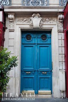 paris blue doors by suzette