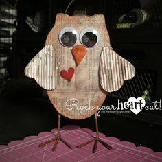 Wooden baby owl by Ms. Ruin's Playthings