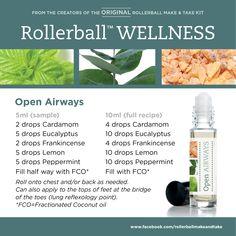 Open Airways :: Rollerball WELLNESS Make & Take Workshop Kit #essentialoils…