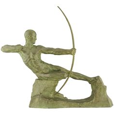 Art Deco bronze Hercules archer by Victor Demanet. | From a unique collection of antique and modern bronzes at http://www.1stdibs.com/furniture/more-furniture-collectibles/bronzes/