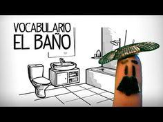 Vocabulario cuarto de baño en español, partes de la casa - YouTube