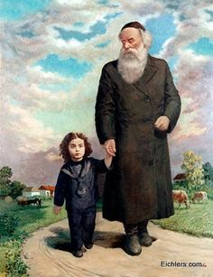 Baal HaTanya and the Lubavitcher Rebbe - Fine Prints on Canvas - By ... ??