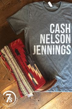 Johnny Cash, Willie Nelson, Waylon Jennings... Classic. Real. Country. Music. Artists. Need we say more? Adult size t-shirt Fits true to size