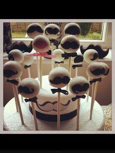 Moustache cakepops for a moustache themed party