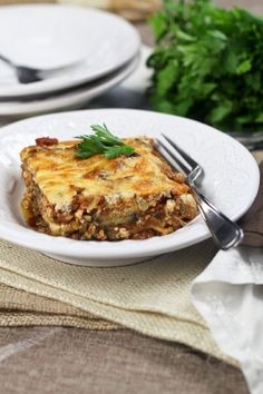 vegetarian moussaka from the healthy foodie