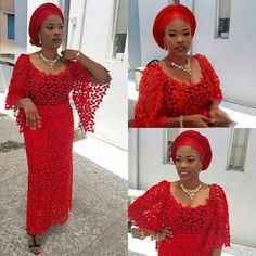 Here Are Lovely head spinning ankara and lace aso ebi styles that will sure make you wow. Simple and Lovely collection of styles design with ankara and lace African Lace Dresses, African Fashion Dresses, African Attire, African Wear, African Women, African Lace Styles, Afro, Aso Ebi Lace Styles, Nigerian Lace