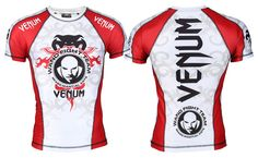 Venum Wanderlei Silva Signature Inferno Rashguard - White at http://www.fighterstyle.com/venum-wanderlei-silva-signature-inferno-rashguard/
