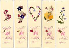 Pressed Flowers | Custom Wedding Favors