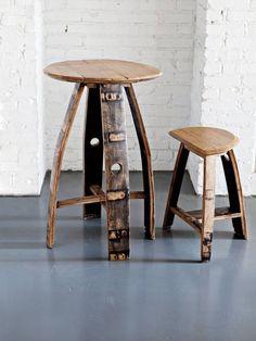 Bourbon Barrel Table and Stools from Jason Cohen Wood Artisan and Bourbon & Boots