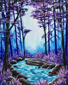 Join us for a Paint Nite event Tue Nov 2018 at 4103 Sunrise Highway Bohemia, NY. Purchase your tickets online to reserve a fun night out! Simple Canvas Paintings, Easy Canvas Painting, Canvas Artwork, Painting & Drawing, Landscape Art, Landscape Paintings, Look Wallpaper, Pastel Art, Painting Inspiration