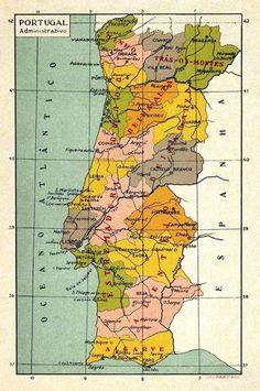 Quem não se recorda de ter deste tipo de mapas de Portugal nas salas de aula de antigamente? Quando éramos chamados pelos professores, e ...