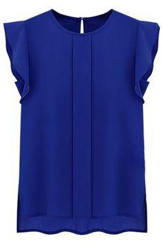 2017 Button Solid Fashion Chiffon camisa blusas ropa mujer korean fashion clothing O-neck Sleeveless Women Blouses Tops Clothes Shirts & Tops, Shirt Blouses, Short Shirts, Women's Tops, Collar Shirts, Chiffon Shirt, Chiffon Tops, Ruffle Blouse, Chiffon Ruffle