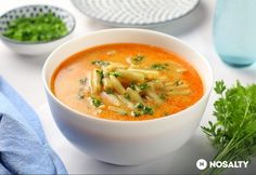 Hagyományos zöldbableves   NOSALTY Thai Red Curry, Ethnic Recipes, Soups, Soup