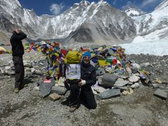 One of our trekkers at Everest Base Camp!  #H4HTrekking #H4H