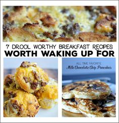 Breakfast recipes worth waking up for! Easy breakfast recipes that are so yummy! You can even make some of these ahead for an on the go breakfast!