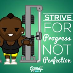 Keep your goals in sight, perfection doesn't happen overnight. - Check out the new Gymoji by body360 apparel range at www.bodytek.store/, get your Gymoji on! - #flexfriday #fitfam #workout #gymlife