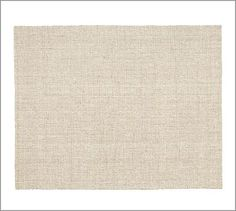 Chunky Wool & Natural Jute Rug #potterybarn -- this could be an option if I go for color in other places. I like the texture and it looks soft.