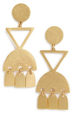 Main Image - Madewell Geo Statement Drop Earrings