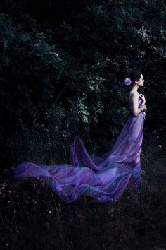 Summer night by Cambion-Art on DeviantArt Fairytale Gown, Dark Fairytale, Fairy Photoshoot, Violet Aesthetic, Purple Gowns, Artsy Photos, Mauve, Lilac, Dance Photography