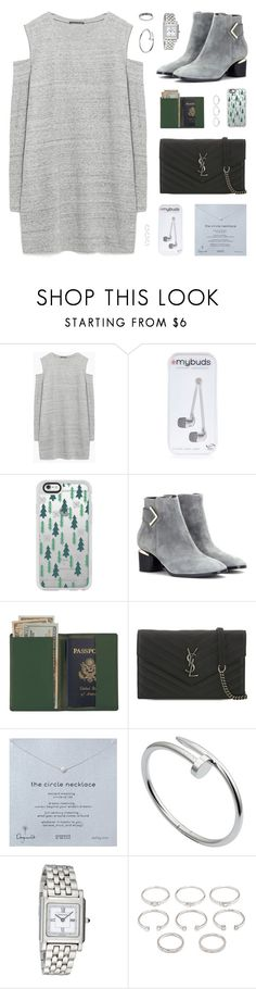 """""""Good Girls Go Out"""" by belenloperfido ❤ liked on Polyvore featuring Zara, River Island, Casetify, Nicholas Kirkwood, Royce Leather, Yves Saint Laurent, Dogeared, Cartier, Tiffany & Co. and Forever 21"""