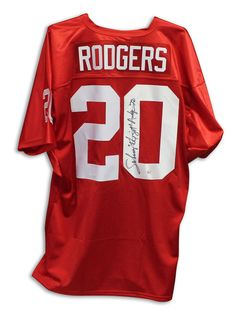 "Johnny Rodgers Nebraska Cornhuskers Autographed Red Jersey Inscribed """"The Jet"""" & """"72"""". 72 is for the year that he won the Heisman Trophy."