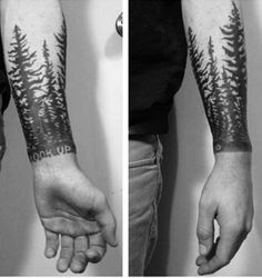 "Forest forearm Tattoo ""Look Up"""