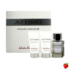 Salvatore Ferragamo Attimo Pour Homme Coffret:Eau De Toilette Spray 60ml + Shower Gel 50ml + After Shave Balm 50ml 3pcs #Salvatore Ferragamo #Cologne #Valentine #Men #StrawberryNET #Giveaway #GiftSet