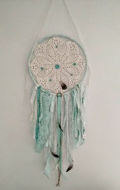 Shabby Chic Mini doily lace Dream catcher by AudreyEileenVintage