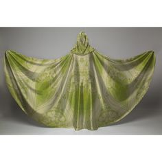 Cloak Green Elven Art Nouveau and Cream Celtic Brocade Stretch Velvet... ($126) ❤ liked on Polyvore featuring outerwear, grey, women's clothing, green cloak, green velvet cloak, faux-fur cape, cape coat and hooded cape