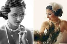 Finding and sharing the very best wedding inspiration from Bridal Make-up ,Wedding Hairstyles, real wedding photos to rustic wedding and DIY wedding ideas Great Gatsby Wedding, 1920s Wedding, Gatsby Party, Dream Wedding, Wedding Vintage, Wedding Veil, Green Wedding Shoes, Wedding Inspiration, Wedding Ideas