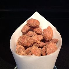 Crockpot cinnamon sugar almonds.   This screams holiday season at me!