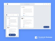 Faceboook PC / Mobile Redesign