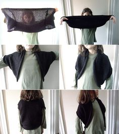 DIY Bolero.........perfect to pair with sleeveless dresses to become more work appropriate