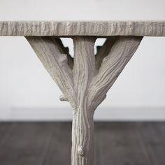 Faux Bois Console Table