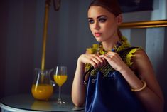 Kristina Bazan with a blue epi leather Noé bag Kristina Bazan, Four Seasons Hotel, Geneva, Luxury Handbags, Louis Vuitton Handbags, Stylish, Collection, Colors, Leather