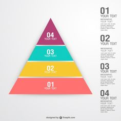Pyramid concept infographic Free Vector Free Infographic, Infographic Templates, Infographics, Adobe Illustrator, Marketing Words, Article Design, Business Icon, Photo Craft, Web Design Inspiration