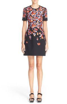 MARY KATRANTZOU Floral Embroidered Short Sleeve Sheath Dress. #marykatrantzou #cloth #