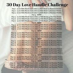 30 Day AB/ Love Handle Challenge: