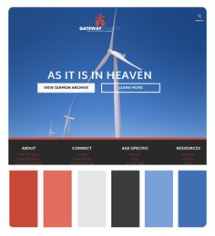 Church Website Color Scheme