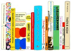 Ideal Bookshelf by  Jane Mount.  I have had one of these custom painted of my favorite books and I love it.
