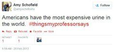 Buzzfeed: The Weirdest, Grossest #thingsmyprofessorsays