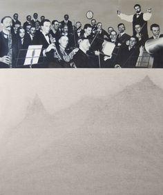 L'andante delle 17.00  oil on canvas 100x120 cm  2017 Galleria Susanna Orlando Pietrasanta