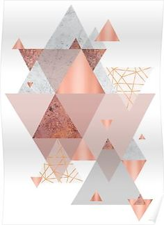 'Blush Pink Geo' Poster by UrbanEpiphany
