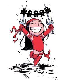 Elektra #1 Baby Variant - Skottie Young