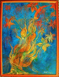 dipinto a olio su tela 60x80 MARGHERITA RANCURA PITTRICE VENETA CONTEMPORANEA
