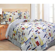Set Sail 4-piece Comforter Set   Overstock.com Shopping - The Best Deals on Comforter Sets