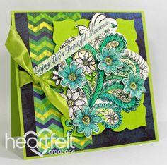 Heartfelt Creations | Peacock Paisley Beautiful Moments