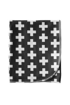 organic cotton baby + toddler blanket in charcoal plus