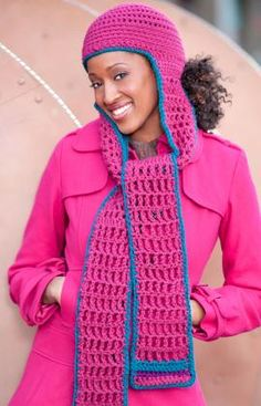 Free Crochet Hooded Scarf Pattern. Not crazy about the scarf but that could be easily changed : )